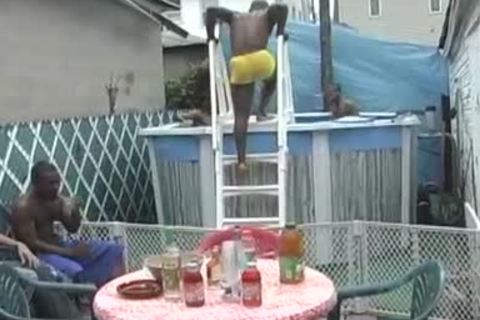 Pool Party Turns Into A sexy dark gay plow