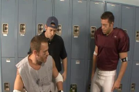 threesome weenies In Locker Room