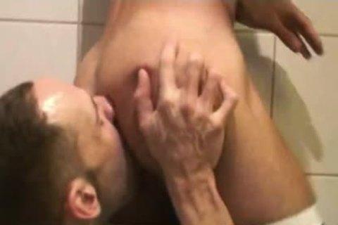 Insatiable Bottom Alejandro Alvarez Is Back For one greater amount pooper nailing, This Time By The Curved knob Of Top-chap Joe Bexter.