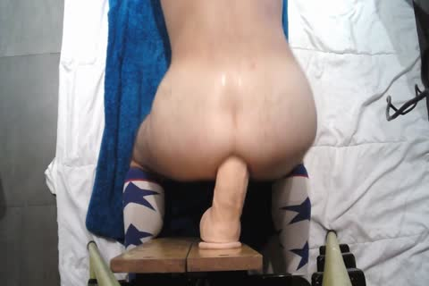 Playing With John Holmes fake penis