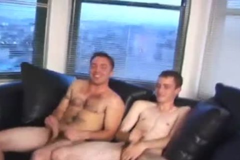 brunette hair Skinny Pale lad Sucks A massive dick