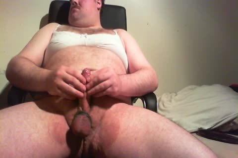 overweight twink wanking In Bra And Pants
