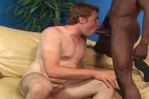 A White twink And A darksome Thug sucking Off Each Other