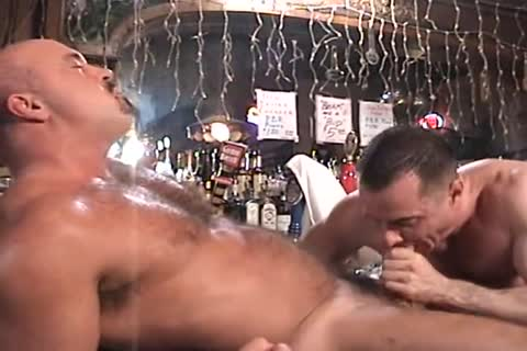 Muscle husband group sex Each Other In The Keister In The Bar.