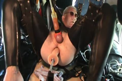 Rubber males Geared Machine fucked