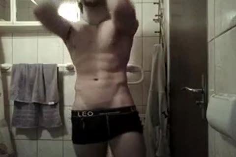 Fit lad cam Shows Off In His bathroom Jerkit.net