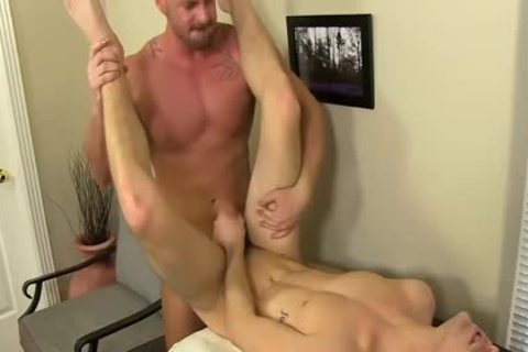 excited Boss Mitch Vaughn bonks Dustin Fitch In His butthole