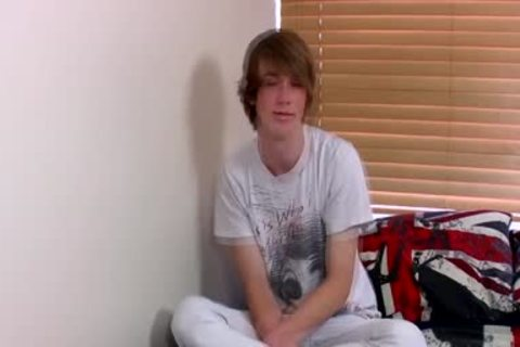 Ginger Emo teen Kai Alexander Pleasures Himself On A bed