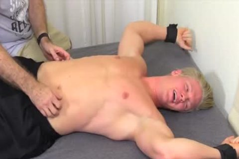 horny And blonde guy Named Seamus gets Tickled Hard