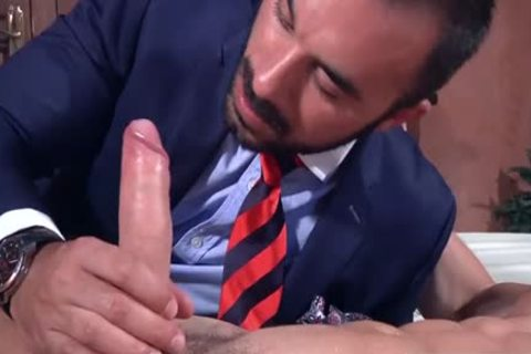A Super Fit Muscle penis gets His bulky rigid wang Blown On My A Beard lad