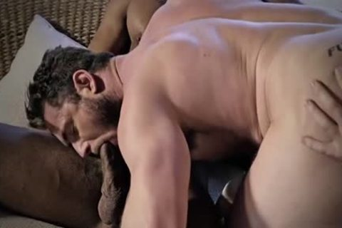 Tattoo homosexual Cuckold With Creampie