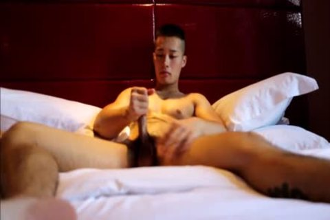 Tattooed gracious asian Hunk With Muscles And big ramrod