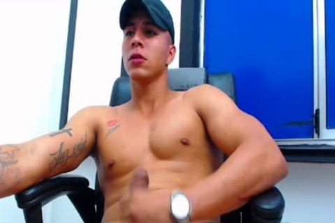 Flirt4Free Latino dude discharges A Load From His Monster shlong