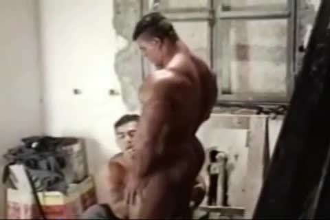 Brasil Bodybuilders large wazoo nailed By Hunk