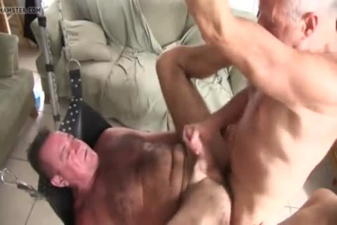 hairy Chest Daddy's bare group-sex