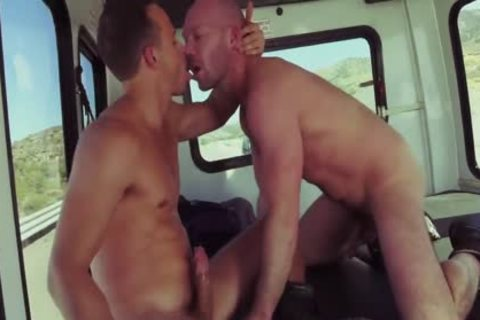 Nate Grimes And Mike Tanner In Fist Bus