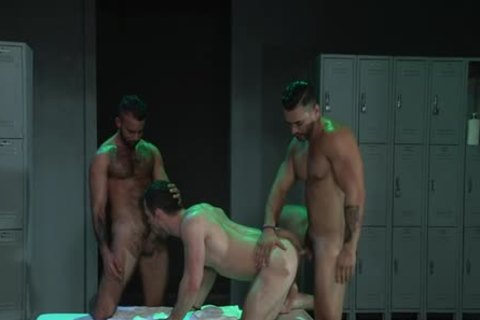 Latin Wolf three-some With Facial