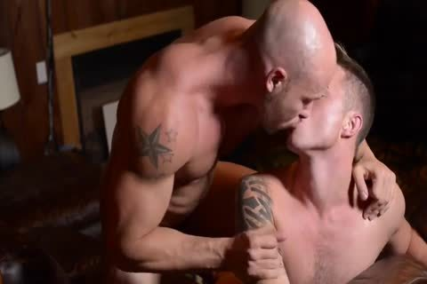 Muscle fuck On Leather couch