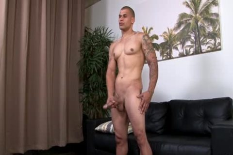 Hung pumped up Hunk Stroking His big Uncut penis