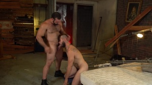 bareback Inquisition - sperm In face hole Action