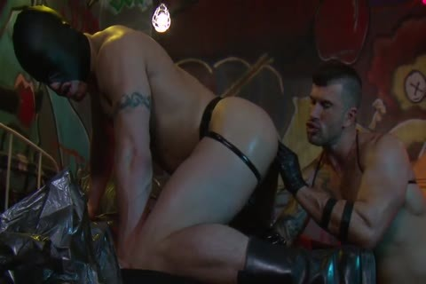 Adam Killian In Latex Forces Jesse Santana To take up with the tongue His arse