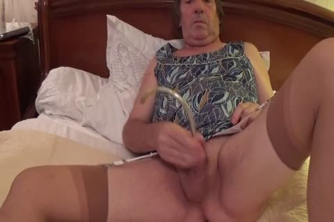 Transvestite shemale underware Sounding Urethral fake penis 17