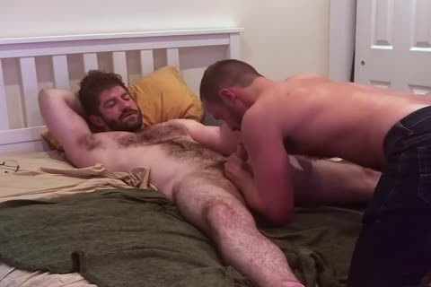 VERBAL hirsute daddy TELLS HOOKUP that chap'S going to NUT INSIDE
