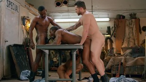 Tom Of Finland: Service Station: bare - Ricky Roman with River Wilson American nail