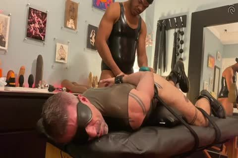 Ryan Spade & gal Russo - bound In Latex