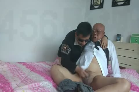 young Chinese Sucks & bonks His older man ally