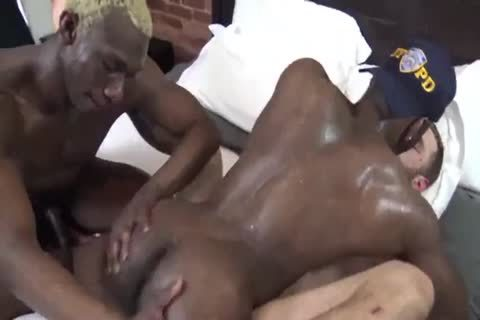 he Gives Is wazoo To Two Hung black Copses