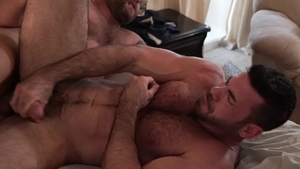 IconMale: Billy Santoro & inked Colby Jansen blowjob cum