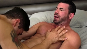 IconMale.com - Billy Santoro plus Lucas Leon blowjob cum