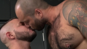 Men Over 30: Julian Torres jerking Sean Harding huge dick