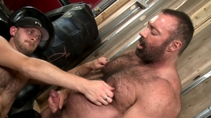 BearBack.com - Bear CJ Parker together with Rikk York rimming