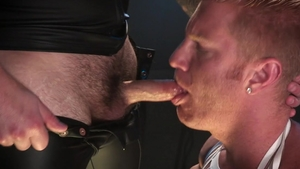 HotHouse - Chris Bines wearing latex licking big penis