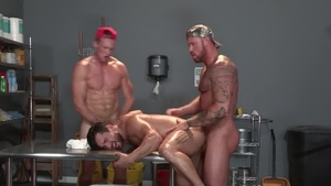 Raging Stallion: Bruno Bernal & Pierce Paris masturbating